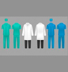 medical doctor uniform hospital nurse coat and vector image