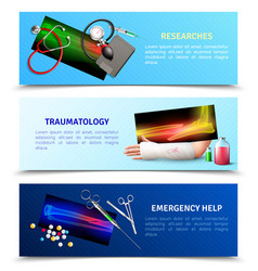 medicine surgical traumatology horizontal banners vector image