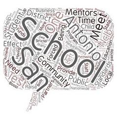 Mentors And Partners In The San Antonio Schools vector