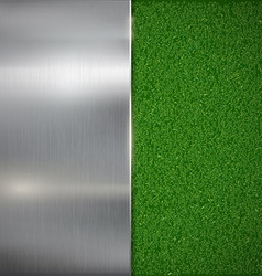 Metal plate on the lawn vector image
