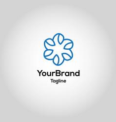 modern healthy leaf logo template vector image