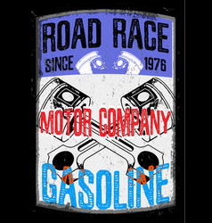 motorcycle gasoline labet tee graphic design vector image