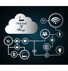 Multimedia icon set Internet of things design vector