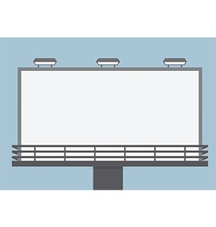 Outdoor blank billboard vector image