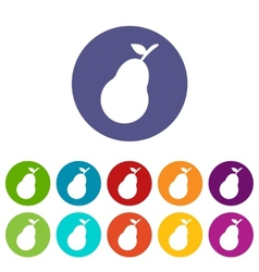 Pear web flat icon vector image