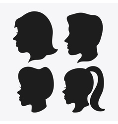 people head silhouette design vector image