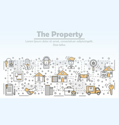 property and real estate advertising flat vector image
