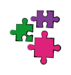 puzzle jigsaw pieces strategy business vector image