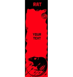 Rat a symbol of Chinese horoscope vector image