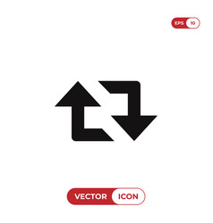 retweet arrows icon vector image