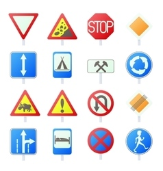 Road Sign Set icons vector