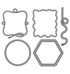 rope frame set rope frames background for vector image