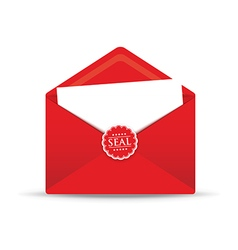 seal red envelope vector image