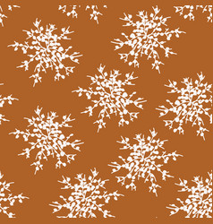 seamless pattern white snowflakes or bunch vector image