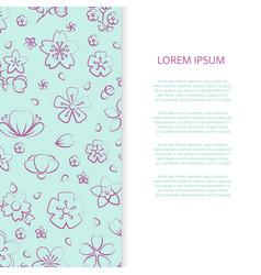 spring blossom flowers banner design vector image