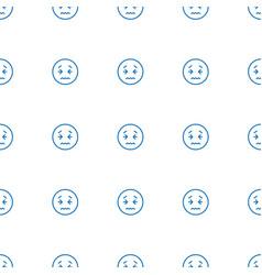 upset emot icon pattern seamless white background vector image