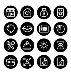 website menu navigation round line icons flat des vector image