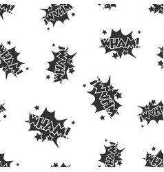 wham comic sound effects seamless pattern vector image