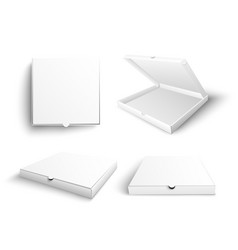 white blank pizza box mock up vector image