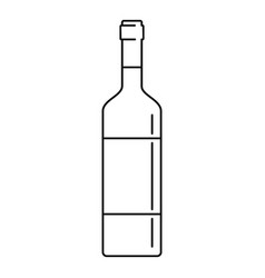 wine bottle icon outline style vector image