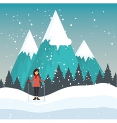 Winter holidays season icon vector
