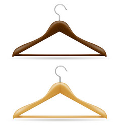 wooden clothes hanger vector image