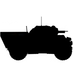 armoured car silhouette vector image vector image