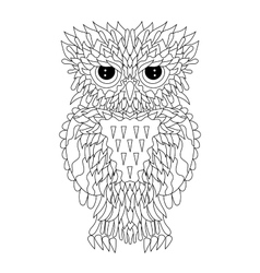 Coloring page with the owl vector image vector image