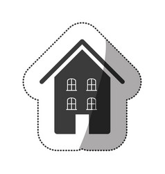 gray beautiful house icon vector image vector image
