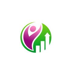 happy success business man logo vector image vector image
