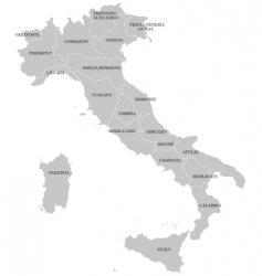 italian map vector image