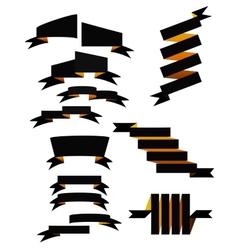 Set of 13 ribbons vector image