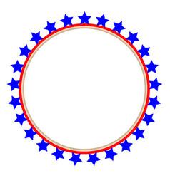 usa flag round frame vector image vector image
