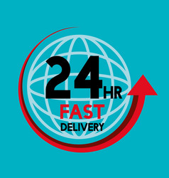 fast delivery service icons vector image