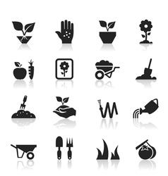 Garden an icon vector