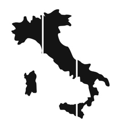 Map of Italy icon simple style vector image