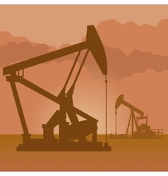 Oil producing pumps vector image