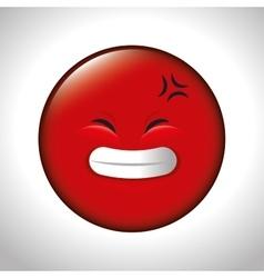 red emoticon smile closed eyes vector image