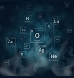 scientific background with chemical vector image