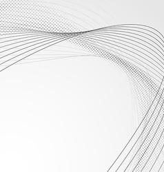 Swoosh wave line abstract modern brochure backdrop vector image vector image