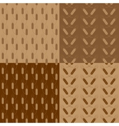 Wheat patterns set vector image