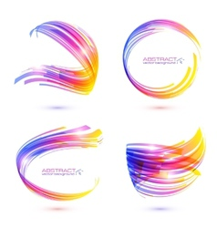 Abstract technology lines frames set vector image vector image