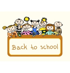 Decorative back to school background vector image vector image