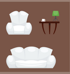 exclusive sitting furniture bedroom with couch vector image vector image