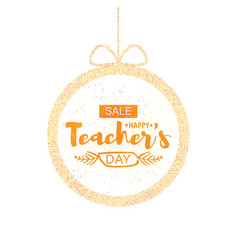 happy teacher s day greeting card frame with the vector image vector image