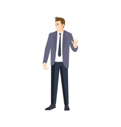 MAn In Grey JAcket And Black Tie Part Of The vector image