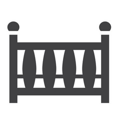Baby crib solid icon baby cot and bed vector