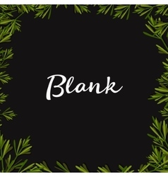 Blank text background with Herbs Flat vector image