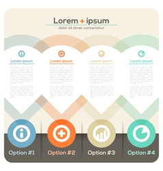 Four Columns Abstract Design Layout vector image
