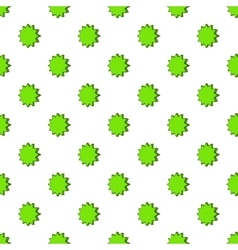 Scalloped star pattern cartoon style vector image